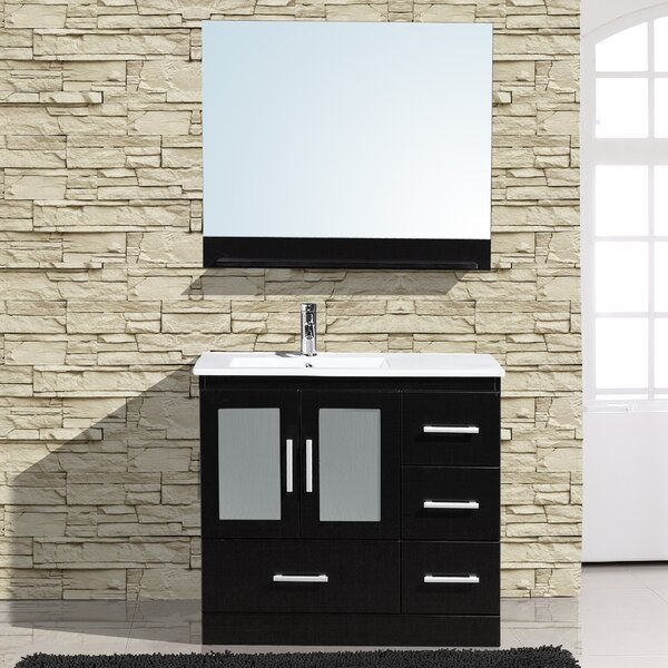Alva 36 Single Bathroom Vanity with Mirror by Adornus