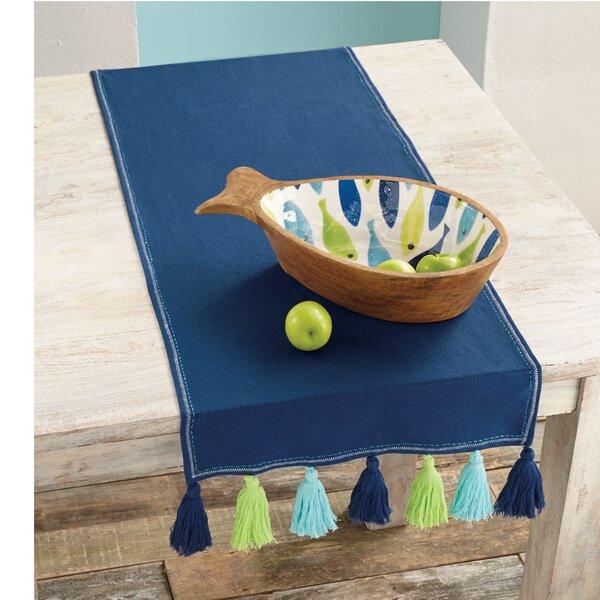 Navy Tassel Table Runner by Mud Pie™