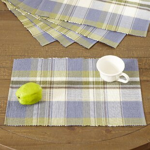 Emmaline Plaid Placemats (Set of 6) by Charlton Home