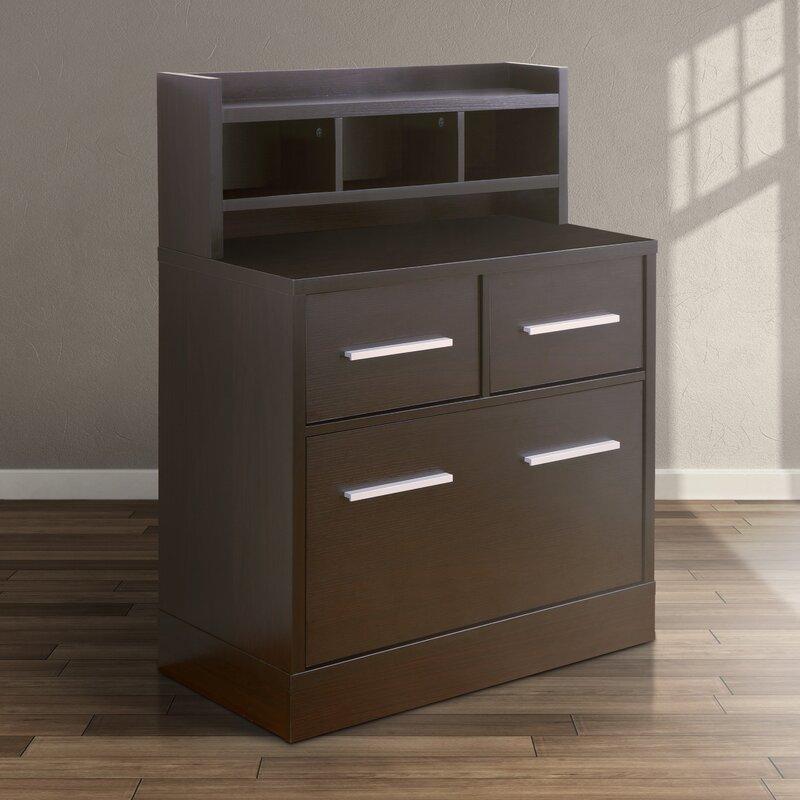Genial 3 Drawer File Cabinet Workstation