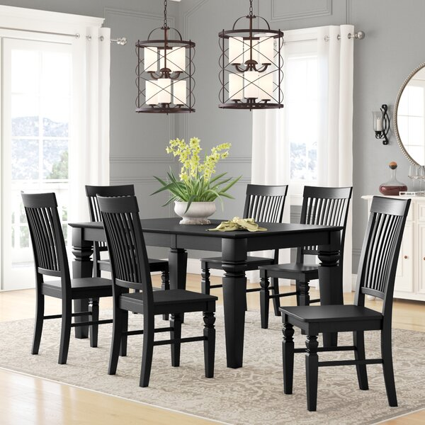 Beesley 7 Piece Drop Leaf Solid Wood Dining Set by Darby Home Co