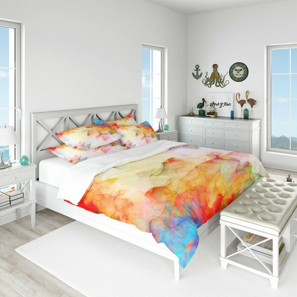 Shirly Watercolor Summer Breeze Duvet Cover Set