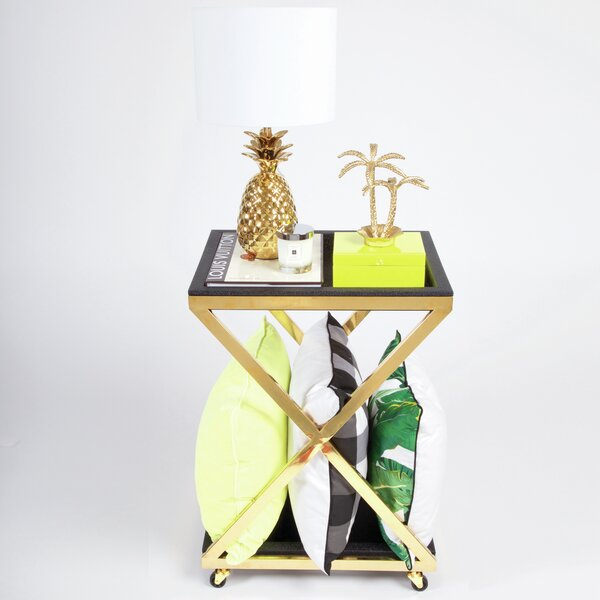 Siegel Square Bar Cart by Everly Quinn