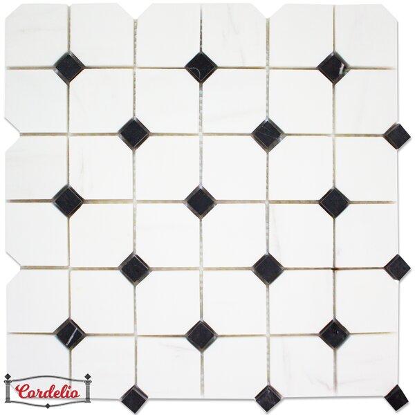 Hex Polished 2 x 2 Marble Random Mosaic Wall & Floor Tile