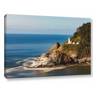 Oregon Lighthouse by Cody York Photographic Print on Wrapped Canvas by Breakwater Bay