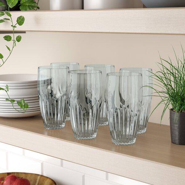 Harrell Iced 23 oz. Plastic Highball Glass (Set of 6) by Red Barrel Studio