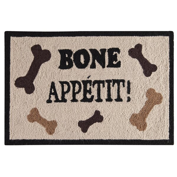 Homer Bone Appetit Wool Tan Area Rug by Winston Porter