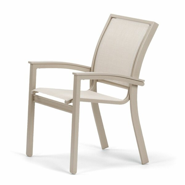 Bazza Grade Polymer/Aluminum Stacking Patio Dining Chair by Telescope Casual Telescope Casual