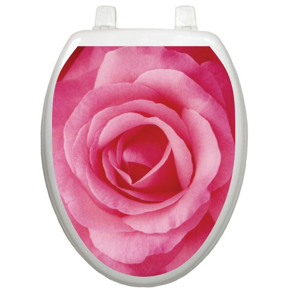 Themes Single Rose Toilet Seat Decal by Toilet Tattoos