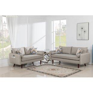 Lowall Modern 2 Piece Standard Living Room Set by George Oliver