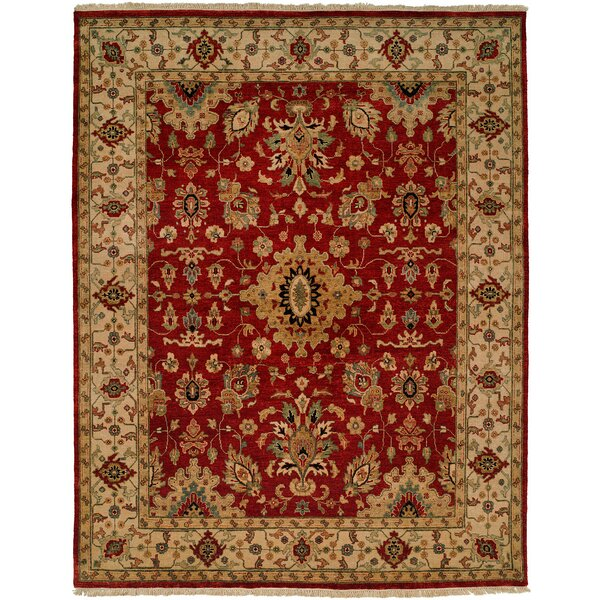 Cagayan Hand-Knotted Red/Beige Area Rug by Wildon Home ®
