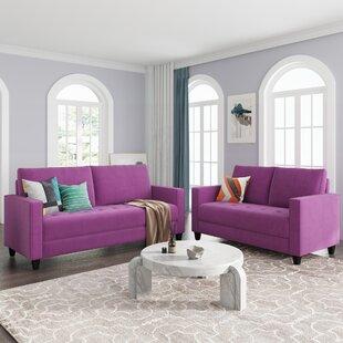 Grey Sectional Sofa Set(2+3 Seat) by Latitude Run®
