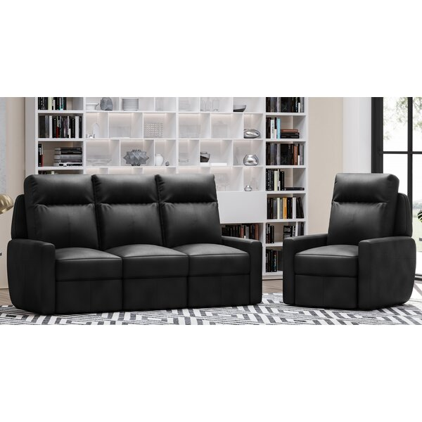 Cody 2 Piece Leather Reclining Living Room Set by Westland and Birch