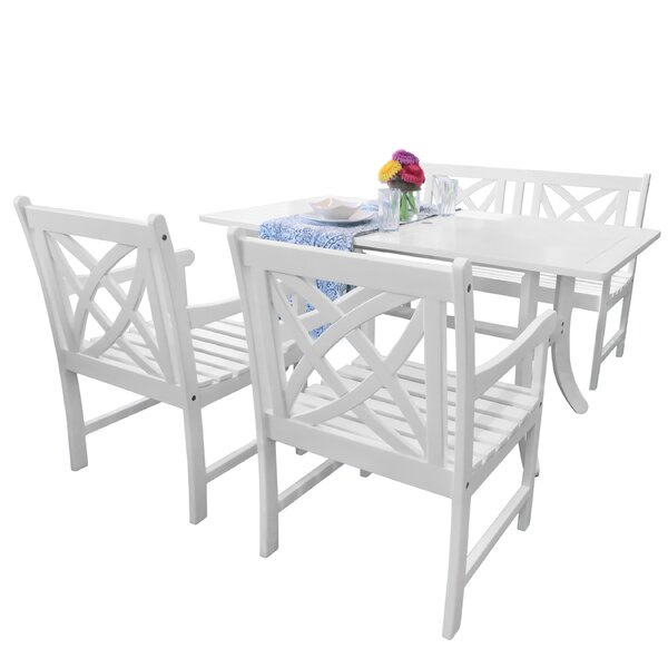 Mahler 4 Piece Dining Set by Darby Home Co