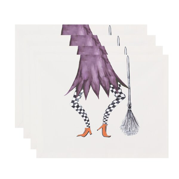 Maser Halloween 18 Placemat (Set of 4) by The Holiday Aisle