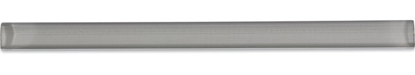 0.75 x 12 Glass Pencil Liner Tile in Gray Taupe by