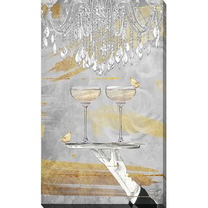 Cheers by BY Jodi Graphic Art on Wrapped Canvas by Picture Perfect International