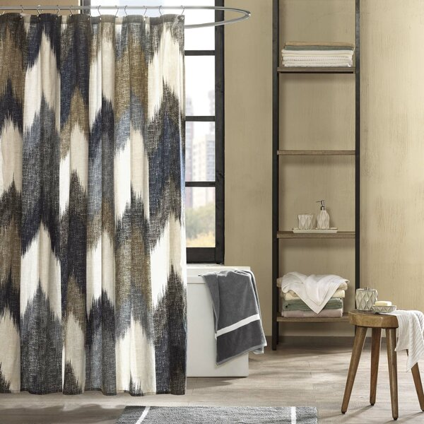 Mcshan Cotton Printed Shower Curtain By Mercury Row.