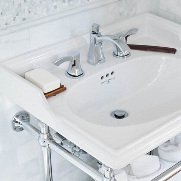 Tiber Widespread Bathroom Faucet with Pop-Up Drain Assembly