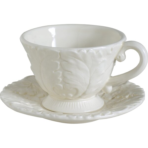 Saguenay Cup and Saucer (Set of 8) by August Grove