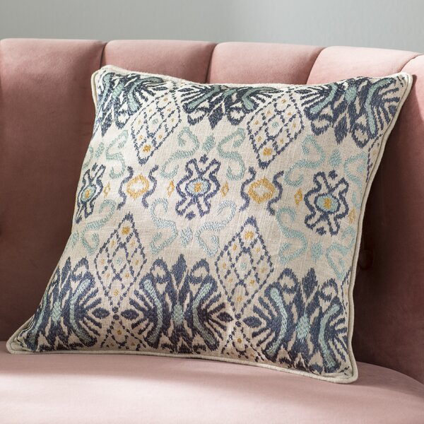Glenside Ikat Throw Pillow by Mistana