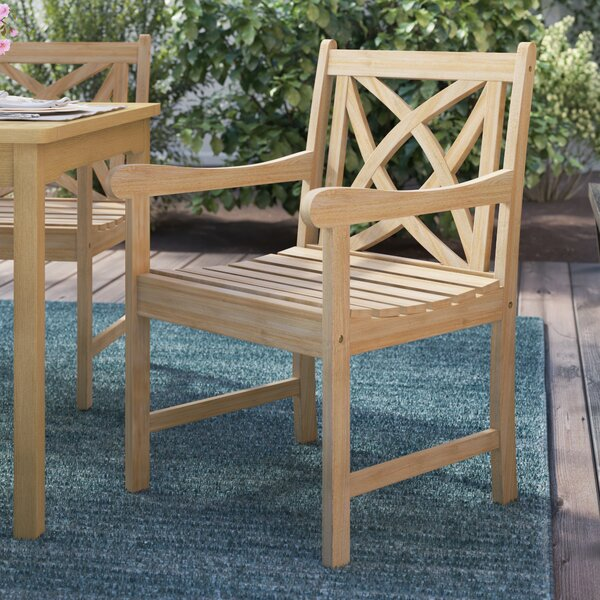Baskerville Patio Dining Chair by Darby Home Co