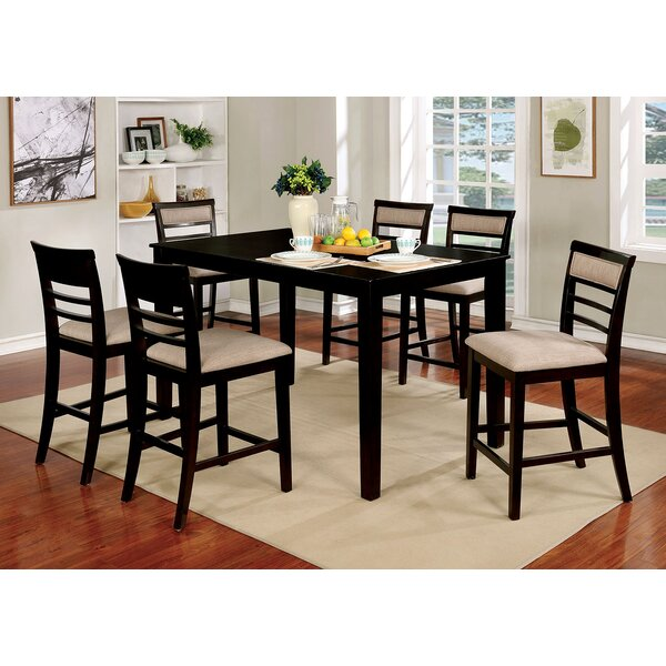 Harness Wooden 7 Piece Counter Height Dining Table Set by Red Barrel Studio