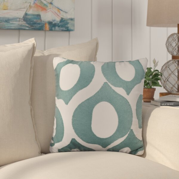 Eastwood Embroidered Cotton Throw Pillow by Highland Dunes