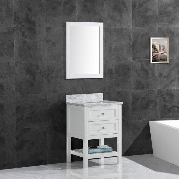 Johna 23.5 Single Bathroom Vanity Set with Mirror