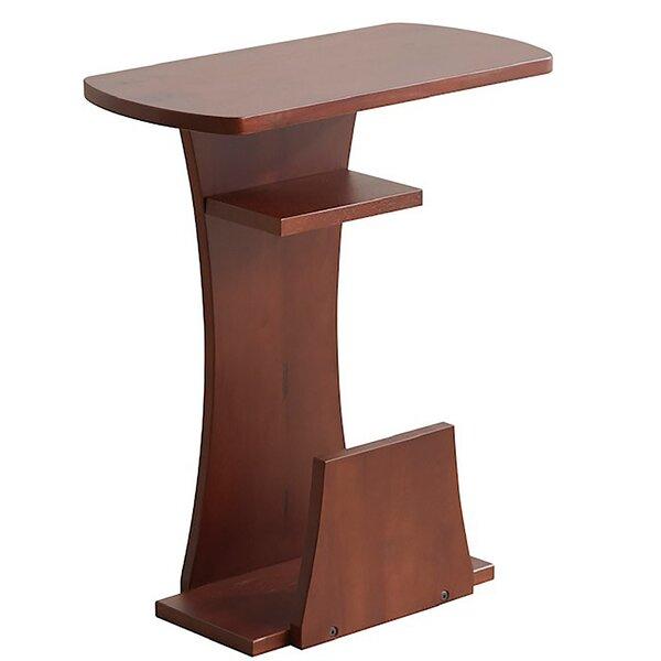 Contessa Solid Wood Floor Shelf End Table By Red Barrel Studio