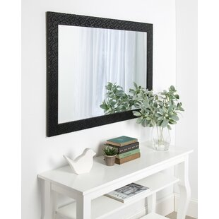 Everly Quinn Rectangle Framed Beveled Accent Mirror
