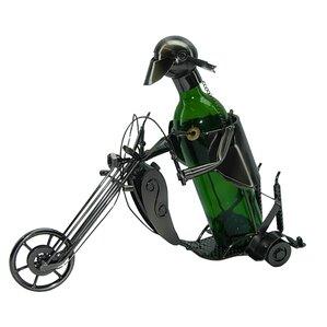 Forrest Motorcyclist 1 Bottle Tabletop Wine Rack by Red Barrel Studio