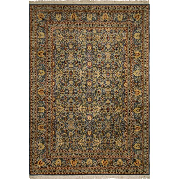 One-of-a-Kind Samuels Hand Knotted Wool Blue/Teal Area Rug by Astoria Grand