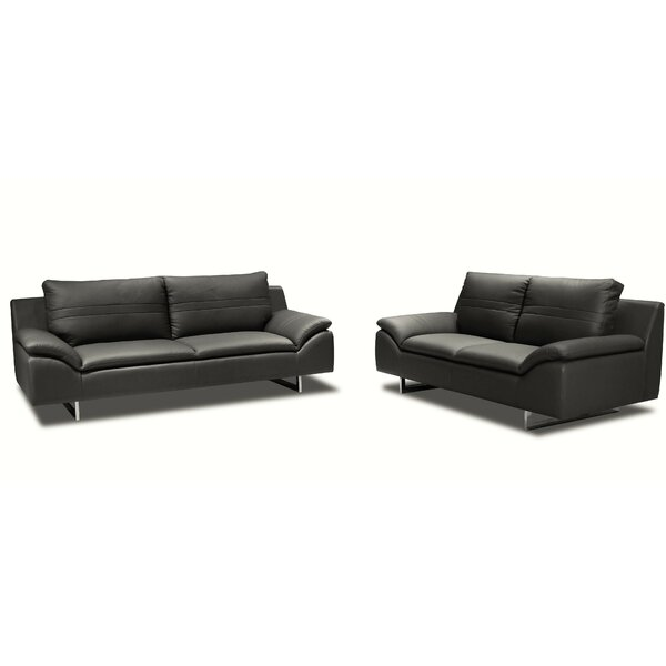 Obbe 3 Piece Leather Living Room Set by New Spec Inc