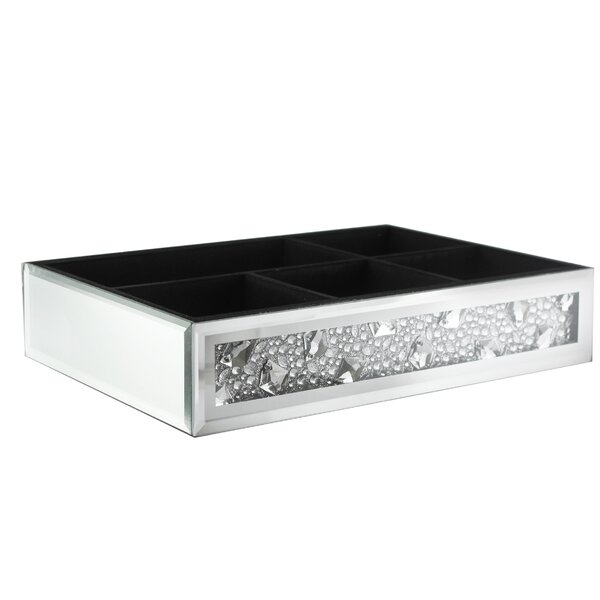 Chartier Jewels Mirror Bathroom Accessory Tray by House of Hampton