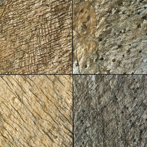 Natural Cleft Face, Gauged Back 12x12 Slate Field Tile
