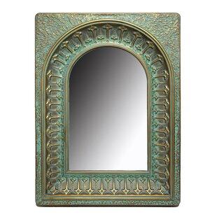 Bungalow Rose Ceylon Embossed Metal Wall Mirror