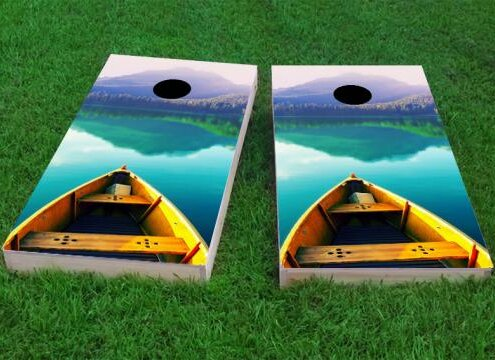 Boat Cornhole Game (Set of 2) by Custom Cornhole Boards