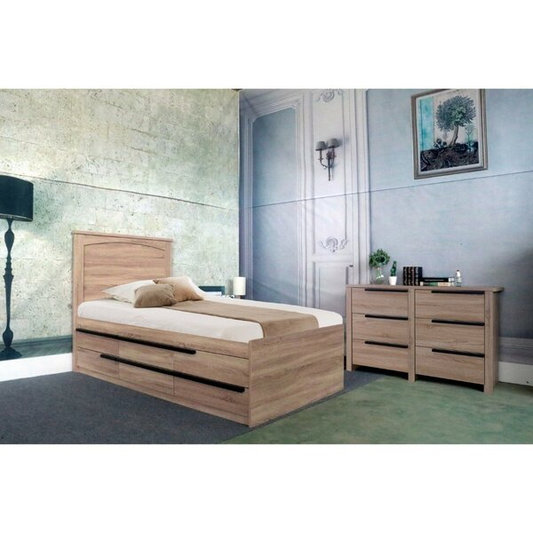 Clegg Twin Storage Platform Bed by Modern Rustic Interiors