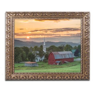 'A Farm and a Prayer' by Michael Blanchette Framed Photographic Print by Trademark Fine Art