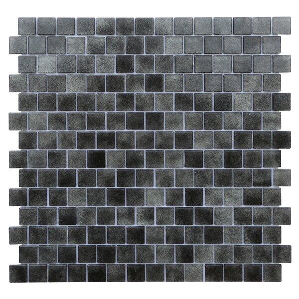 Quartz 0.75 x 0.75 Glass Mosaic Tile in Black/Gray by Kellani