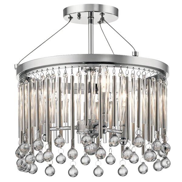 Malvern 3 - Light Unique / Statement Drum Chandelier By Mercer41