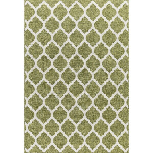 Ramsay High-Quality Green Indoor/Outdoor Area Rug by Charlton Home