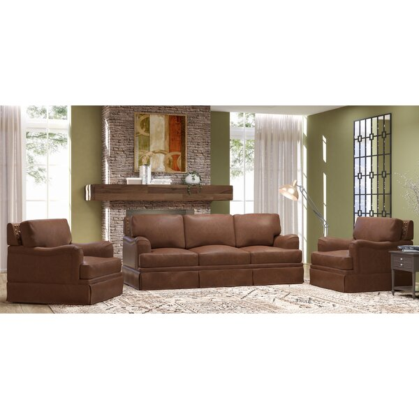 Alto 3 Piece Leather Living Room Set by Westland and Birch Westland and Birch
