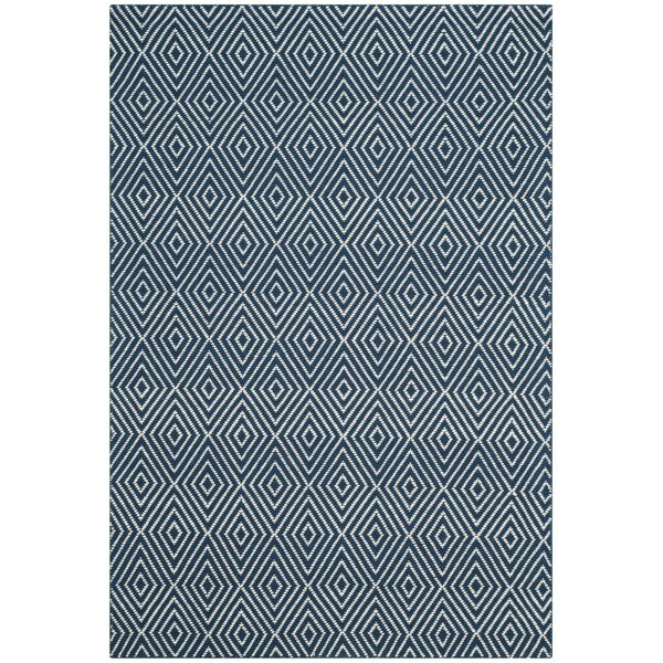 Kris Hand-Woven Navy Area Rug by Birch Lane™