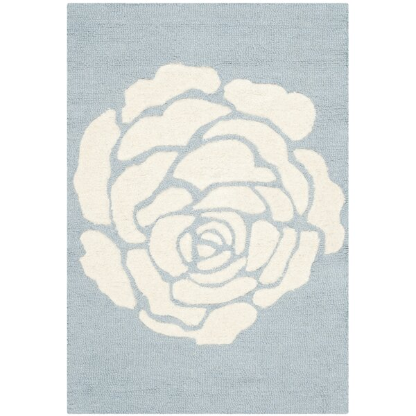 Martins Blue / Ivory Area Rug by Wrought Studio