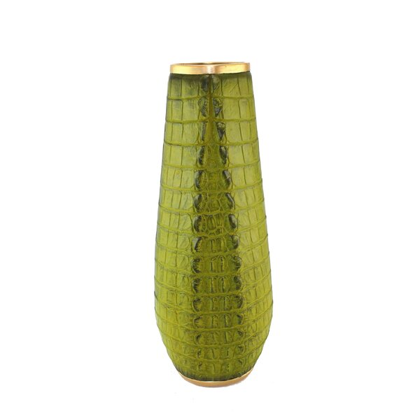 Polyresin Alligator Skin Floor Vase by Corrigan Studio