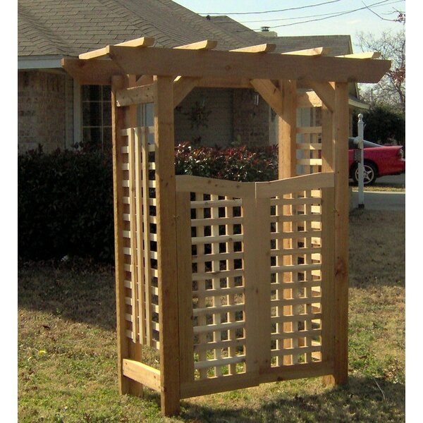 Deluxe Classic Wood Arbor with Gate by Threeman Products