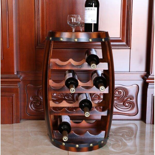 Loretta en Barrel Shaped 14 Bottle Floor Wine Bottle Rack by Fleur De Lis Living Fleur De Lis Living