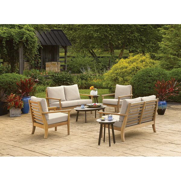 Huggins 7 Piece Sofa Seating Group with Cushions by Highland Dunes